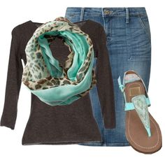"""""""Mint and Leopard!"""" by enhoover on Polyvore"""