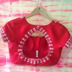 To customize whatsapp 9043230015 for Saree, blouse and Kurtis Saree Jacket Designs Latest, Wedding Saree Blouse Designs, Saree Blouse Neck Designs, Simple Blouse Designs, Sari Blouse, Saris, Mirror Work Blouse Design, Designer Blouse Patterns, Instagram