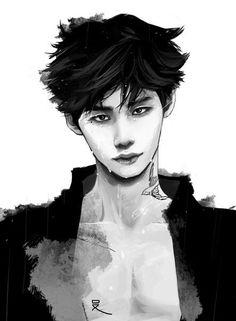 """Dorama """"W - two worlds"""", Kang Chul, art"""