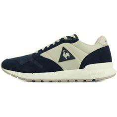 gave Le Coq Sportif omega x nylon/suede heren sneakers (Blauw)