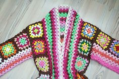 Granny Squares Cardigan Pattern (Work In Progress) | Beautiful Crochet Stuff