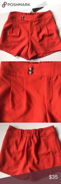 FINAL PRICE‼️ C. Luce Red Shorts NWT • These bright red shorts will turn some heads • new with tags & has extra buttons • material is thicker and gives off a dressy casual feel • zip fly with button closure • front pleat details • pockets Shorts