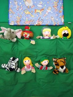 Circus Puppet Theater - Back Pockets for Puppets