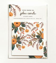 Marigold Blooms Place Cards from Rifle Paper Co.   Perfect for that autumn dinner party or even a Thanksgiving feast!