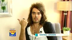 Comedian, actor Russell Brand is being interviewed by presenter Lorraine Kelly on 'LK Today'. Russell Brand, Lorraine, Comedians, Photo Galleries, Interview, Actors, Actor