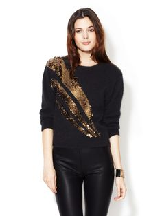 Quad Angora Wool Sequin Crewneck by Marc by Marc Jacobs on Gilt.com