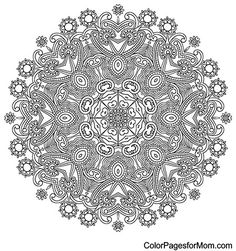 "Mandala Coloring Page 22 | free sample | Join fb grown-up coloring group: ""I Like to Color! How 'Bout You?"" https://m.facebook.com/groups/1639475759652439/?ref=ts&fref=ts"