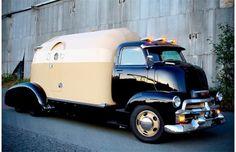 The custom-built 1954 Chevrolet cab over engine camper truck built ...
