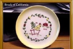 Brock California Farmhouse Yellow Bread Plate vintage china dinnerware housewares - California Pottery
