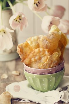 Kanela and Lemon: crispy ears carnival Mexican Food Recipes, Snack Recipes, Snacks, Ethnic Recipes, Beignets, Pancakes, Plum Cake, Sweet And Salty, No Bake Desserts