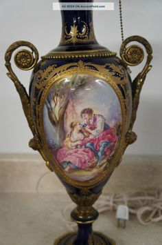 vitagage victorian   Antique Victorian Lamps Vase French Romantic Lighting Urn Hand ...