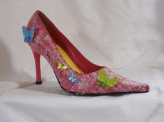 womens butterfly shoes by wndringmnd on Etsy,