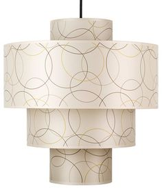 Deco Deluxe Pendant Lamp, Circles - contemporary - Pendant Lighting - Design Public