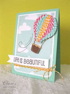 Baker's Twine Hot Air Balloon card by clare272, via Flickr