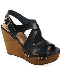 Fergalicious Lauren Slingback Platform Wedge Sandals