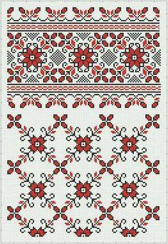 Cross Stitch Borders, Cross Stitch Charts, Cross Stitch Designs, Cross Stitching, Cross Stitch Patterns, Blackwork Embroidery, Folk Embroidery, Cross Stitch Embroidery, Embroidery Patterns