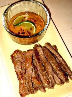 Jenny's Cookbook: Beef Satay with Peanut Sauce {South Beach Friendly - Phase 1}