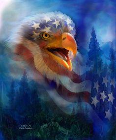 Surreal Eagle | Eagles Cry Mixed Media