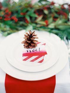 Christmas table decor - place setting