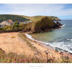 'Hope Cove, Devon' Poster by Andrew Roland Railway Posters, Travel Posters, Devon Beach, South West Coast Path, Jurassic Coast, South Devon, Dartmouth, Medieval Town, Sandy Beaches
