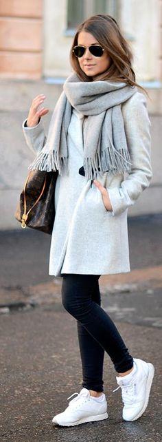 Casual Grey Coat by Mariannan