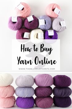 feeling overwhelmed about how to buy yarn online? Im here to help! Heres everything you need to know about buying yarn and my favorite shops! Quick Crochet Patterns, Knitting Patterns Free, Free Knitting, Thread Crochet, Crochet Yarn, Free Crochet, Crochet Projects, Crochet Tutorials, Yarn Projects
