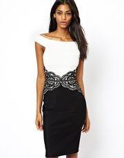 Lipsy Dress with Embellished Waist