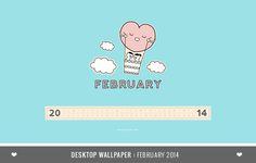 DESKTOP WALLPAPER CALENDAR FEBRUARY 2014 | DESIGN IS YAY!