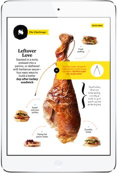 Bon Appetit Magazine for iPad By Condé Nast Digita Yearbook Design, Yearbook Layouts, Yearbook Theme, Yearbook Spreads, Yearbook Covers, Food Magazine Layout, Magazine Layout Design, Web Design, Food Design