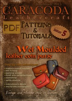 PDF Leathercraft patterns templates wet moulded leather from CARACODA