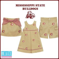 Cutest Embroidered Mississippi State Bulldogs Boys & Girls