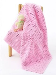 One Skein Baby Blanket: free crochet pattern