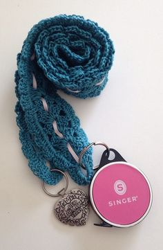 Items similar to Crocheted Lacey Chatelaine/Lanyard Crochet/Knit Helper on Etsy Crochet Gifts, Crochet Ideas, Free Crochet, Knit Crochet, Crochet Patterns, Crochet Lanyard, Crochet Keychain, Crochet Earrings, Lanyards