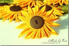 Fabric Sunflowers