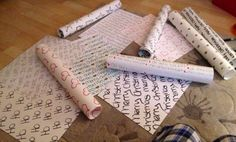 Home made Christmas wrapping paper