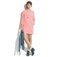 Birdshow Dress - shift dresses - Women's DRESSES - Madewell