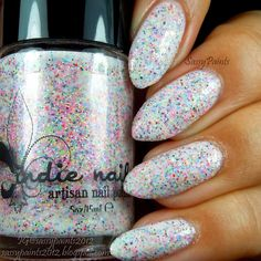 """Jindie Nails """"Hex On the Beach"""", """"She Blinded Me With Science"""" & """" Betty's Fetti Milkshake"""" Taupe Nails, Red Nails, White Nails, Orange Nails, Trendy Nail Art, Cool Nail Art, Shellac Colors, Nail Colors, Neon Purple"""