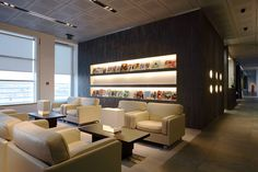 JET AIRWAYS LOUNGE Brussels, Belgium 2009 *In collaboration with Skidmore, Owings & Merrill LLP. . Design-build for a 475 sq. meter first and business class lounge.