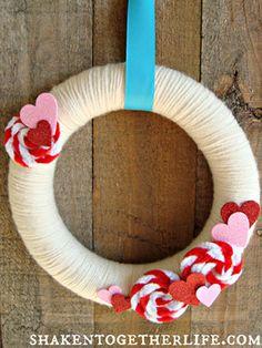 Valentine's Day Wreaths - Valentine's Day Craft Ideas - Good Housekeeping