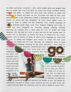 Love the typed background | go by jenniferswilson at @Studio_Calico