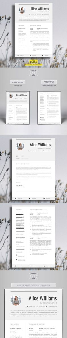 CV Resume Template Carnaby Pinterest Resume, Templates and - perfect professional resume