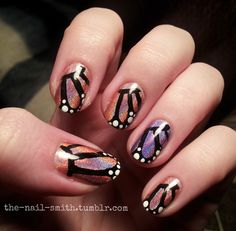 Holographic Butterfly Wing Nails