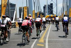Participate or ride for a purpose in the Momentum Cycle Challenge. Take to the streets of Joburg in the world's second largest mass participation cycling event! Cycle Challenge, Its A Wonderful Life, South Africa, Times Square, Purpose, Cycling, Past, Challenges, Street View
