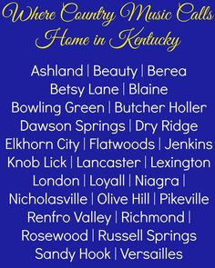 Find out where country music calls home in Kentucky - visit www.kentuckycountrymusic.com