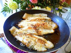 SEA BASS IN GARLIC BUTTER SAUCE