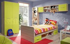 Dětský pokoj DOMINO II Baby Changing Table, Baby Furniture, Bunk Beds, Toddler Bed, Wall, House, Home Decor, Action, Ideas