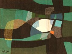 MID-CENTURIA : Art, Design and Decor from the Mid-Century and beyond: Mid-Century Tapestries  Vouga?, abstract, ca. 1935, wool tapestry/ rug, 47 x 61 in., Nazmiyal Collection