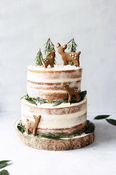 Lemon & Elderflower Cake with Chai Spice Biscuits - Cupful of Kale
