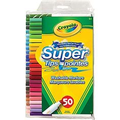Crayola® Supertips Washable Markers, 50/Pack