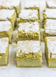 Matcha Custard Cake